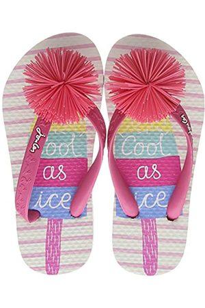 Joules Girls Flip Flops, ( Ice Pop Whiticepop)
