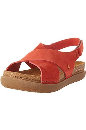 Art Women's 1710 Skin Back Rhodes Open Toe Sandals, (Coral Coral)