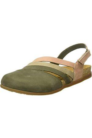 El Naturalista Women's NF45 Multi Leather Zumaia Closed Toe Sandals, (KAKI Mixed KAKI Mixed)