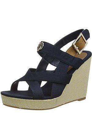 Tommy Hilfiger Women's Basic Hardware High Wedge Sandal Open Toe, (Desert Sky Dw5)