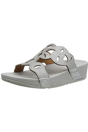 FitFlop Women's Elora Crystal Slides Open Toe Sandals, ( 011)