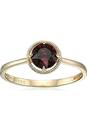 Amazon Collection 10k Gold Swarovski Crystal January Birthstone Ring