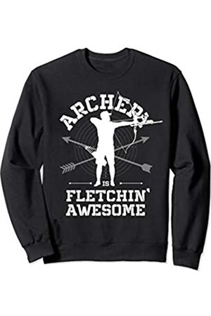 Funny Archery Shirts Co. Archery Is Fletchin' Awesome Funny Bow Arrow Archer Mens Sweatshirt