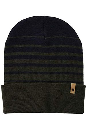 Fjällräven Unisex_Adult Classic Striped Knit Hat Beret, Dark Olive-Dark Navy