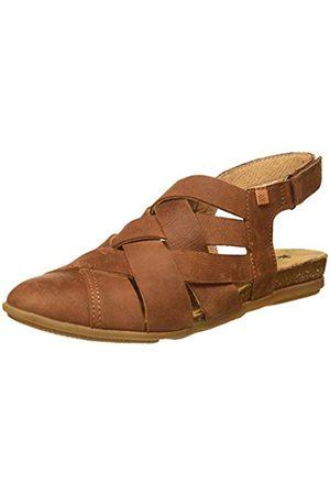 El Naturalista Women's N5205 Pleasant Stella Closed Toe Sandals, (Wood Wood)