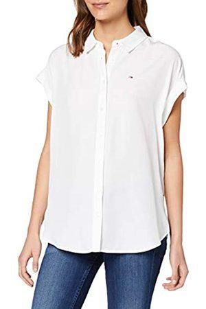 Tommy Hilfiger Women's TJW ROLL UP Sleeve Shirt Sports ( Ybr)