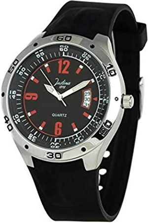 JUSTINA Mens Analogue Quartz Watch with Rubber Strap 11877R