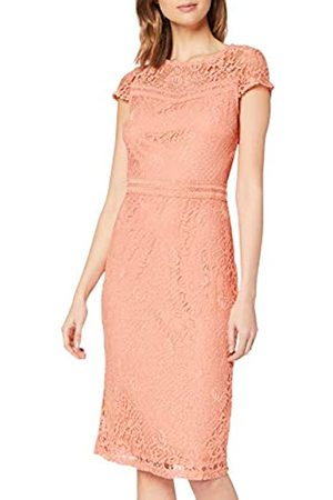 Dorothy Perkins Women's Coral Lace Trim Pencil Dress