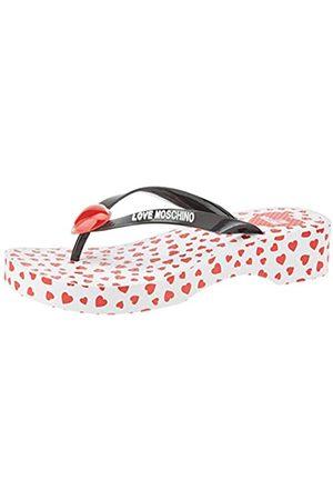 Love Moschino Women's Ja2816 Flip Flops, (Nero 000)