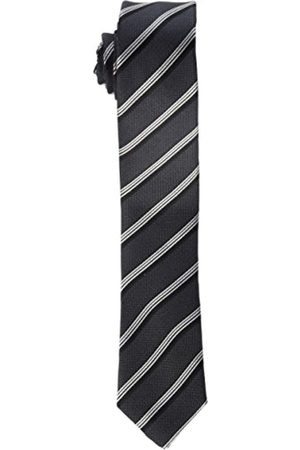 Seidensticker Men's Necktie grey Grau (Anthra 37) 5