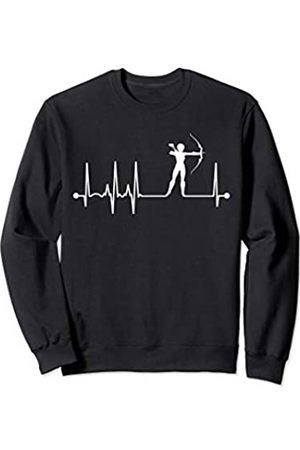 Archery Apparel Co. Women's Archer Heartbeat EKG Bow Hunting Archery Pulse Sweatshirt