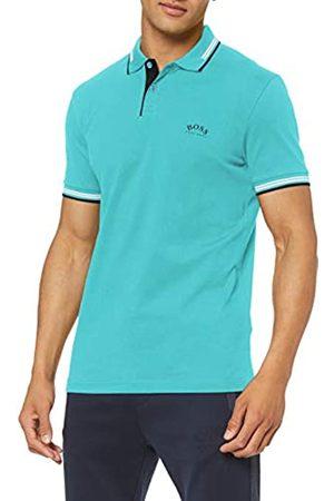 HUGO BOSS Men's Paul Curved Polo Shirt, (Open 488)