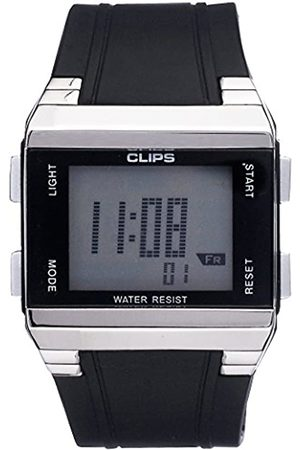CLIPS Men's Quartz Watch with Dial Analogue Display and Rubber Strap 539-6003-44