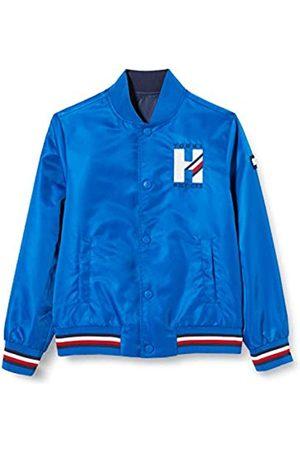 Tommy Hilfiger Boy's Reversible TH Logo Bomber Jacket, (Twilight Navy/Lapis Lazuli C87)