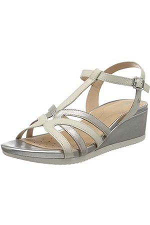 Geox Women's D Ischia G T-Bar Sandals, (Off /Lt C0856)