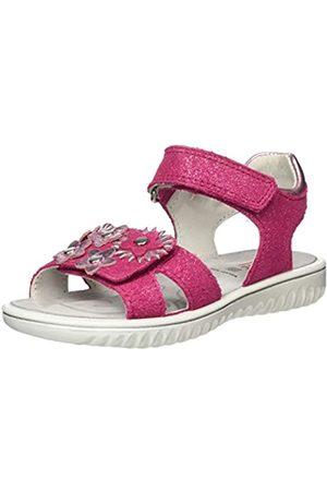 Superfit Girls' Sparkle Ankle Strap Sandals, (Rosa 55)