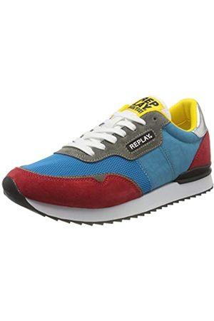 Replay Men's Arthur-Coveland Low-Top Sneakers, (Royal 48)