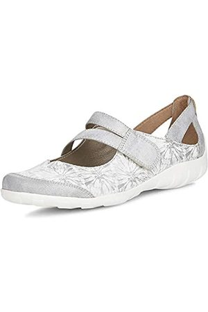 Remonte Women's R3427 Ankle Strap Ballet Flats, (Ice/Weiss/Silber 80)
