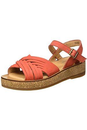 El Naturalista Women's N5590 Pleasant TÜLBEND Open Toe Sandals, (Coral Coral)