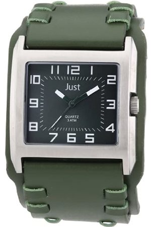 Just Watches Men's Quartz Watch 48-S8981-GR with Leather Strap