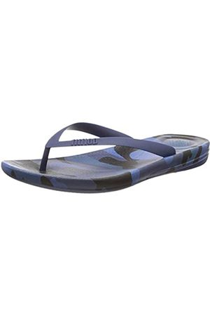 FitFlop Men's IQUSHION CAMO Open Toe Sandals, (Midnight Navy Mix 442)
