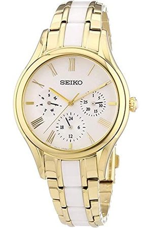 Seiko Womens Chronograph Quartz Watch with Stainless Steel Strap SKY718P1