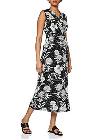 Mela Women's Floral and Spot Print Midi Dress Casual