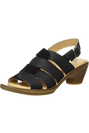 El Naturalista Women's N5358 Pleasant-LUX Suede Aqua Open Toe Sandals