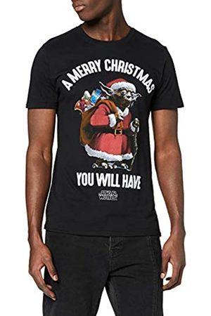 STAR WARS Men's Yoda Santa Christmas T-Shirt