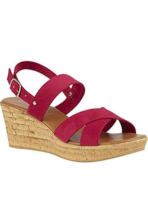 Lotus Women's Angelica Open Toe Sandals, (Fuschia Dk)
