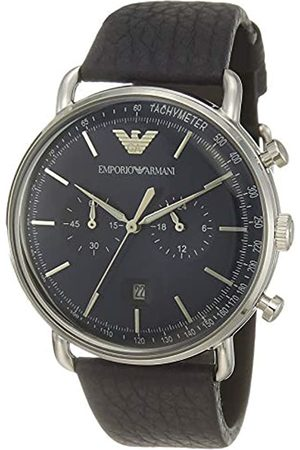 Emporio Armani Men's Analogue Quartz Watch with Leather Strap AR11105