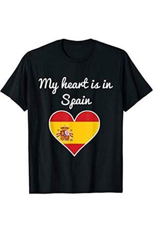 Vishtea My Heart is in Tee SPAIN your FAVORITE Map Heart T-Shirt