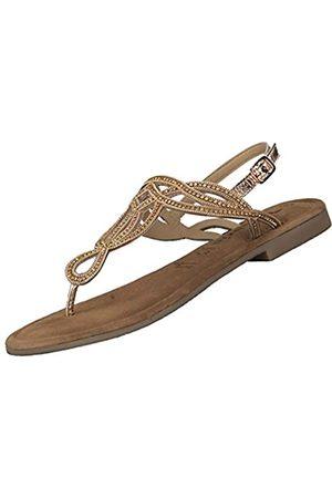 Tamaris Women's 1-1-28115-24 Flip Flops, (Rose Metallic 952)