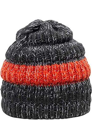 GIESSWEIN Kids Beanie Petersberg Dark ONE - Knitted hat with Merino Wool, Beanie for Boys, Cuddly Fleece Lining, Soft Wool