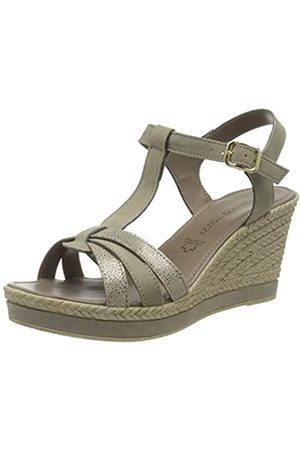 Marco Tozzi Women's 2-2-28387-24 Ankle Strap Sandals, (Taupe Comb 344)