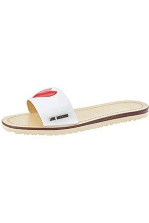 Love Moschino Women's Ja2809 Open Toe Sandals, (Bianco 100)