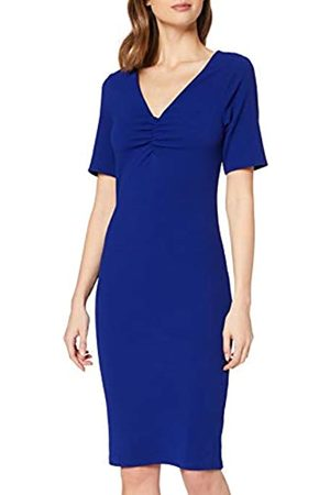 Dorothy Perkins Women's Cobalt Ruched V Neck Bodycon Dress Casual