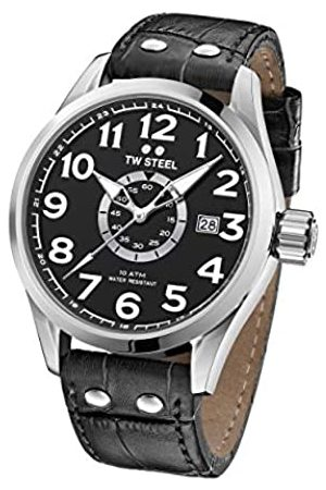 TW steel Unisex Adult Analogue Classic Quartz Watch with Leather Strap VS51