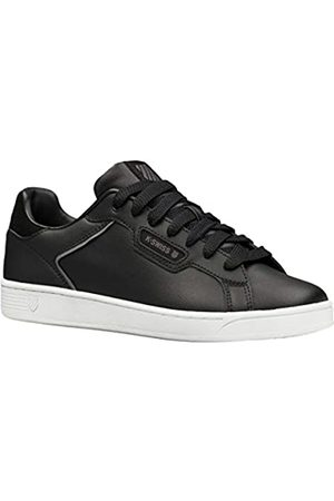 K-Swiss Men's Clean Court Ii CMF Low-Top Sneakers, (Blk/Charcoal/Wht 065)