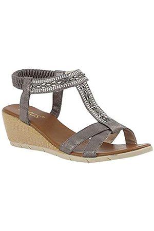 Lotus Women's Bindi Open Toe Sandals, (Pewter Dj)