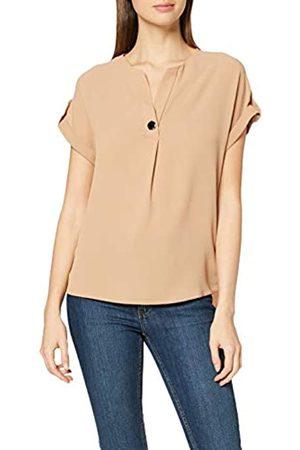 Dorothy Perkins Women's Camel Utility Drop Shoulder Top Blouse