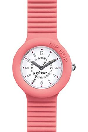 Hip Hop Watch Woman Numbers Collection dial e watchband in Silicone Salmon