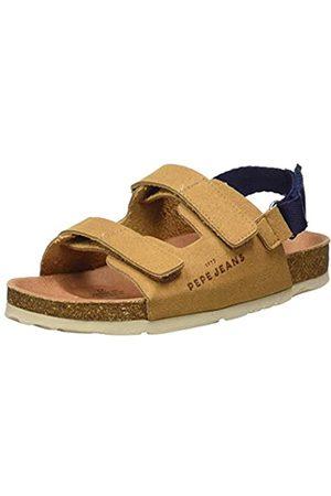 Pepe Jeans Boys' BIO Velcro Closed Toe Sandals, (Tobacco 859)