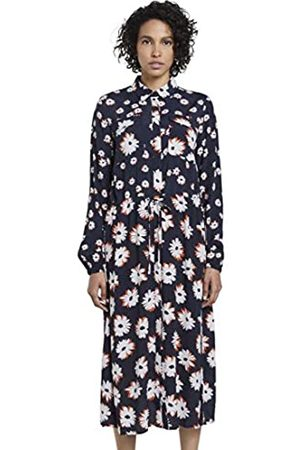TOM TAILOR mine to five Women's Blumen Hemd Business Casual Dress