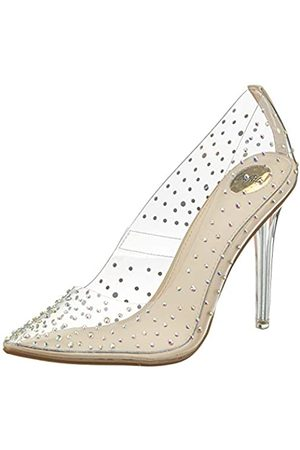 Buffalo Women's Juliana Closed Toe Heels, Transparent (Diamond 001)