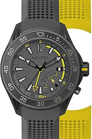 Nautica Mens Analogue Quartz Watch with Silicone Strap NAPBRW006