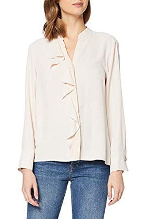Dorothy Perkins Women's Apricot Ruffle Long Sleeve Shirt
