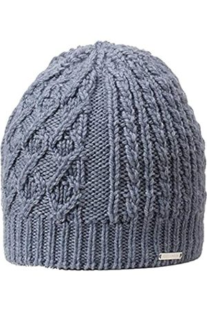 GIESSWEIN Knitted Beanie Kampenwand Dark ONE - Winter Merino Wool Beanie, Women's Knit Hat with Cable Pattern, Women's Beanie, Fleece Lined Cap, Breathable