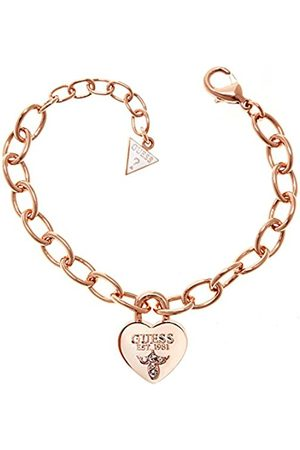 Guess Heart Charm Stainless Steel Bracelet Silver Womens USB80905