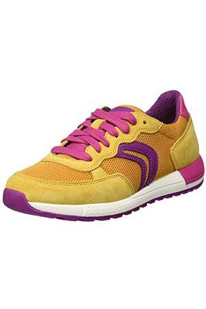 Geox Girls' J ALBEN B Low-Top Sneakers, (Ochre/Fuchsia C2q8n)